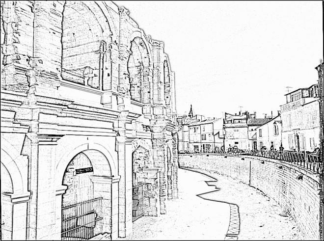 Coloriage et dessins gratuits Architecture de Coliseum à imprimer