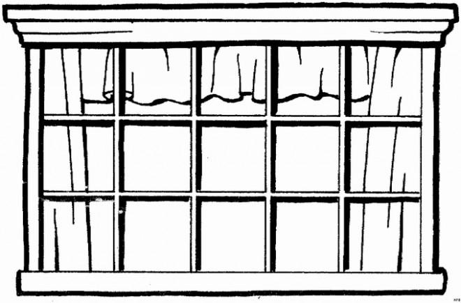 Coloriage et dessins gratuits Architecture de fenêtre à imprimer