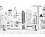 Coloriage et dessins gratuit Architecture de Ville Moderne à imprimer