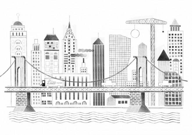 Coloriage et dessins gratuits Architecture de Ville Moderne à imprimer
