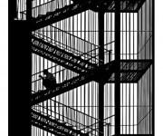 Coloriage Architecture Escaliers
