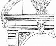 Coloriage et dessins gratuit Architecture Française à imprimer