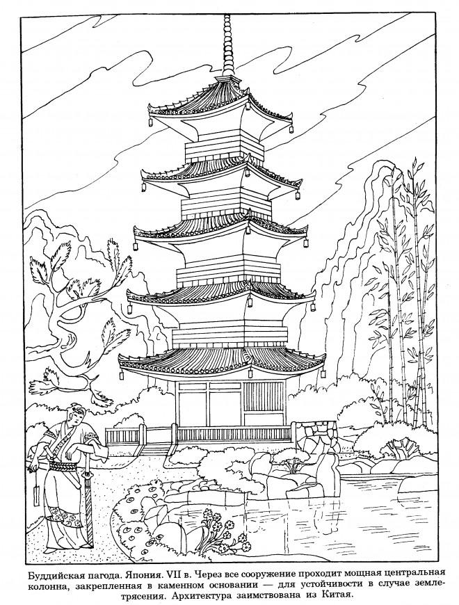 Coloriage et dessins gratuits Architecture Japonaise à imprimer