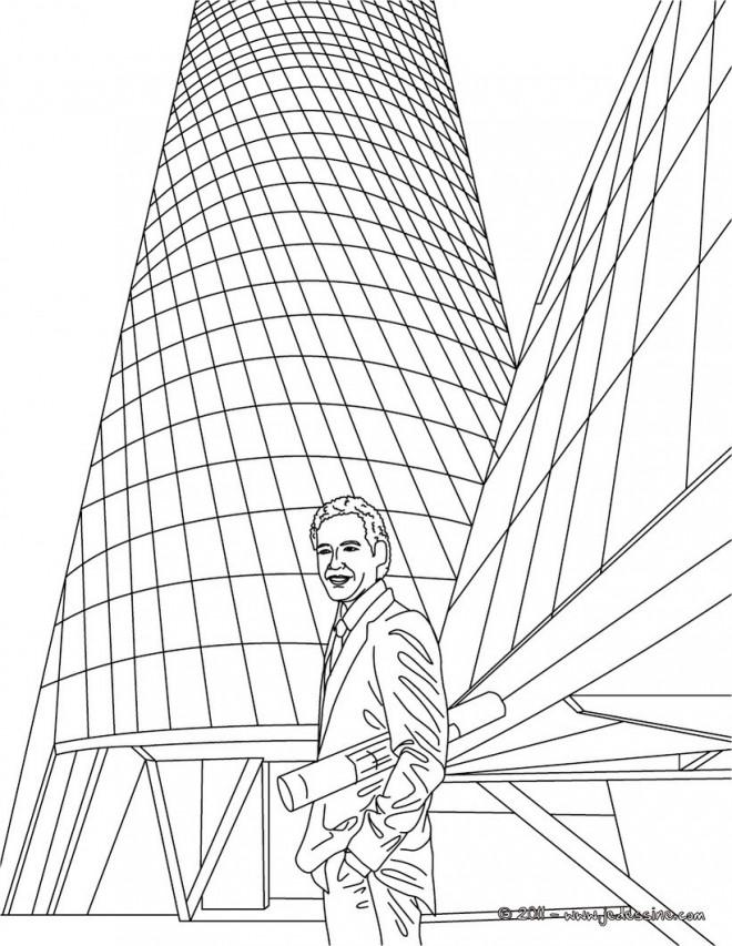 Coloriage et dessins gratuits Architecture révolutionaire à imprimer