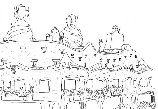 Coloriage et dessins gratuits Architecture stylistique à imprimer