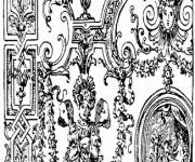 Coloriage et dessins gratuit Décoration sur les bâtiment anciens à imprimer