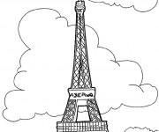 Coloriage la tour eiffel dessin gratuit imprimer - Dessin tour eiffel a imprimer ...
