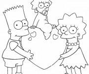 Coloriage Bart en Famille