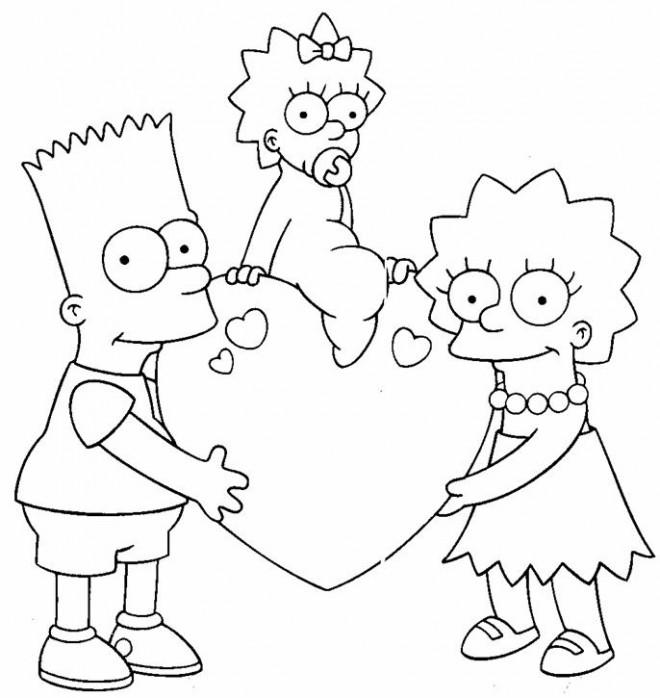 Coloriage et dessins gratuits Bart en Famille à imprimer