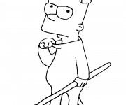 Coloriage Bart en Mode Diabolique
