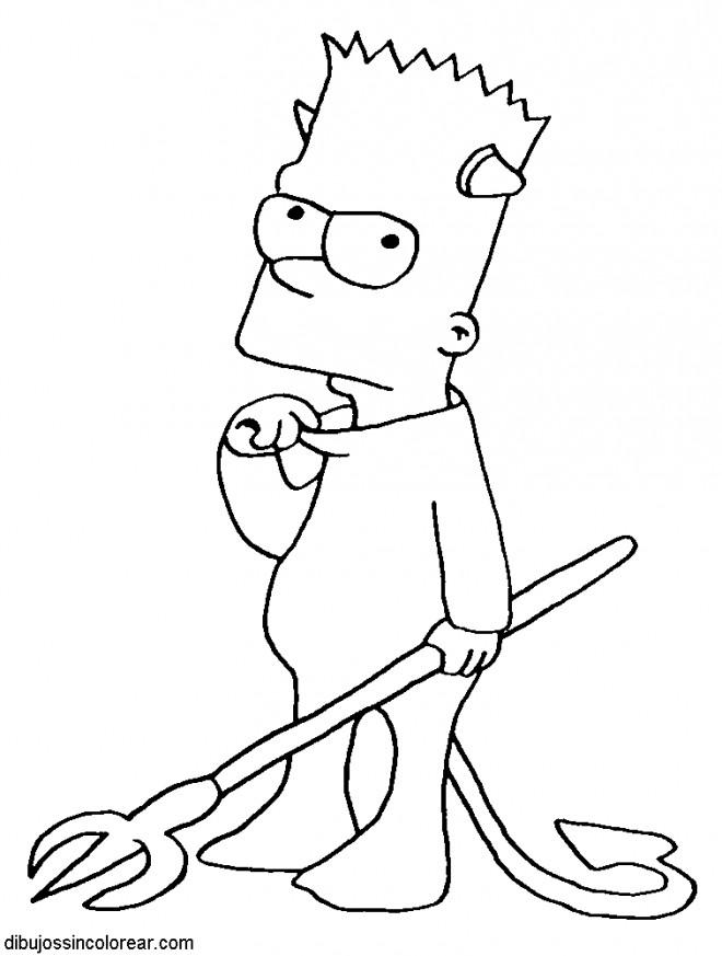 Coloriage et dessins gratuits Bart en Mode Diabolique à imprimer