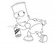 Coloriage et dessins gratuit Bart imprudent à colorier à imprimer