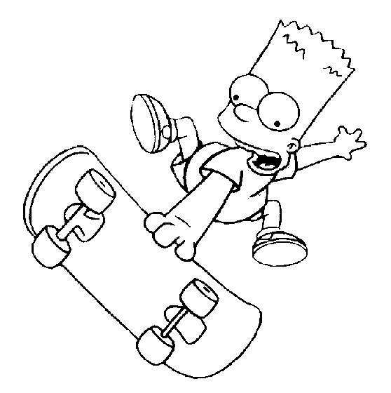 Coloriage et dessins gratuits Bart s'amuse bien à imprimer