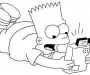 Coloriage et dessins gratuit Bart Simpson dessin animé à imprimer