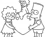 Coloriage et dessins gratuit Bart Simpson en Ligne à imprimer
