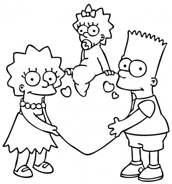 Coloriage et dessins gratuits Bart Simpson en Ligne à imprimer