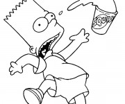 Coloriage dessin  Simpson 34