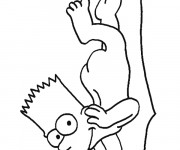 Coloriage dessin  Simpson Bart à imprimer