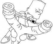 Coloriage dessin  Simpson Bart fait des bêtises