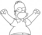 Coloriage dessin  Simpson Homer en ligne