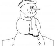 Coloriage dessin  Bonhomme de Neige 14
