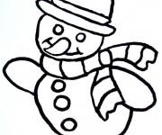 Coloriage dessin  Bonhomme de Neige 5