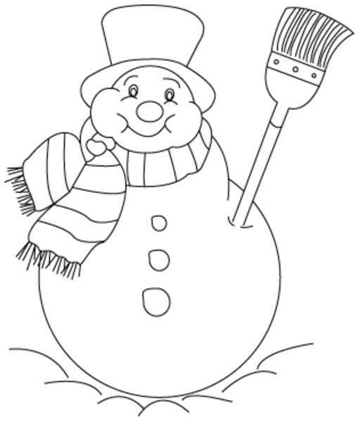 Coloriage bonhomme de neige colorier dessin gratuit imprimer - Bonhomme de neige a imprimer gratuit ...