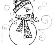 Coloriage et dessins gratuit Bonhomme de Neige à télécharger à imprimer