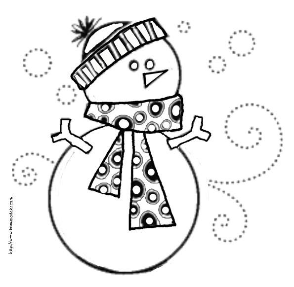 Coloriage et dessins gratuits Bonhomme de Neige à télécharger à imprimer