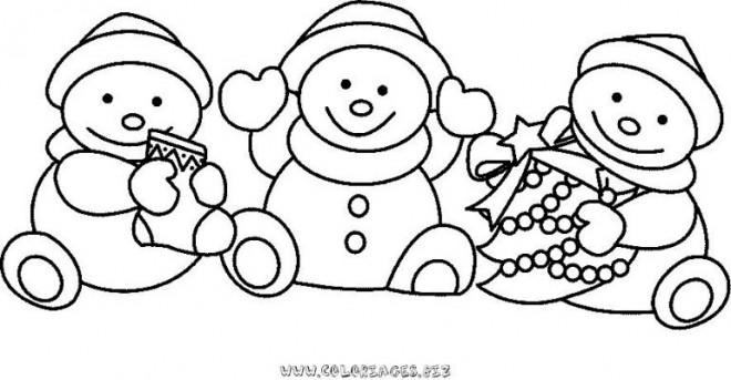 Coloriage bonhomme de neige de no l dessin gratuit imprimer - Bonhomme de neige a imprimer gratuit ...
