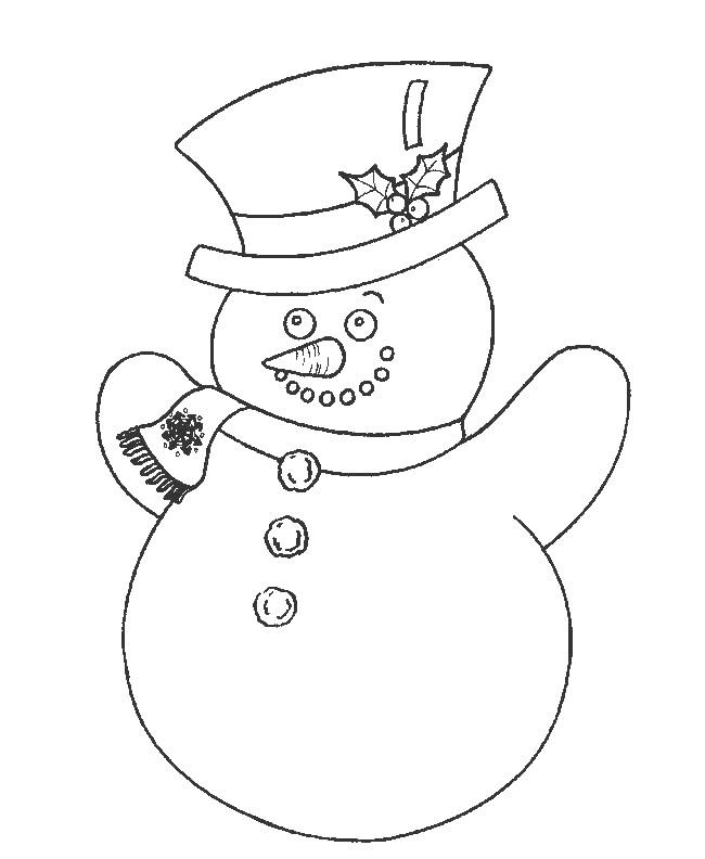 Coloriage et dessins gratuits Bonhomme de Neige en couleur à imprimer