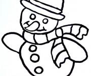 Coloriage et dessins gratuit Bonhomme de Neige facile à imprimer