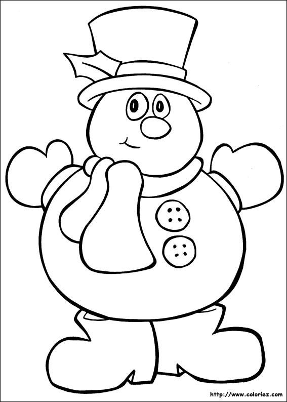 Coloriage et dessins gratuits Bonhomme de Neige humoristique à imprimer
