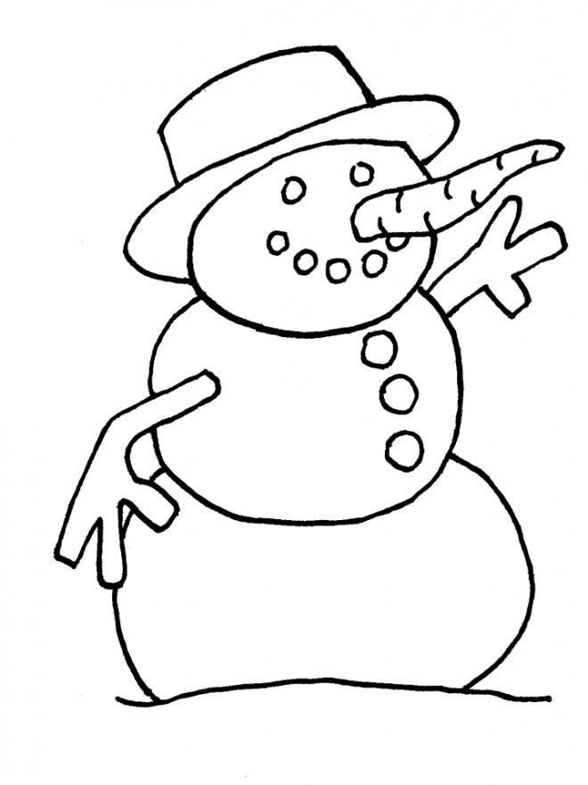 Coloriage et dessins gratuits Bonhomme de Neige maternelle à imprimer