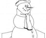 Coloriage et dessins gratuit Bonhomme de Neige pour enfant à imprimer