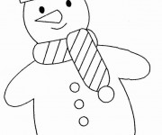 Coloriage Bonhomme de Neige simple