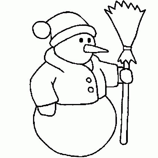 Coloriage et dessins gratuits Bonhomme de Neige vêtu à imprimer