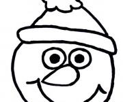 Coloriage et dessins gratuit Tête de Bonhomme de Neige à imprimer