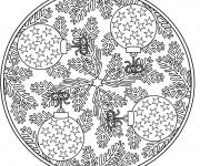 Coloriage et dessins gratuit Adulte Mandala Noel à imprimer