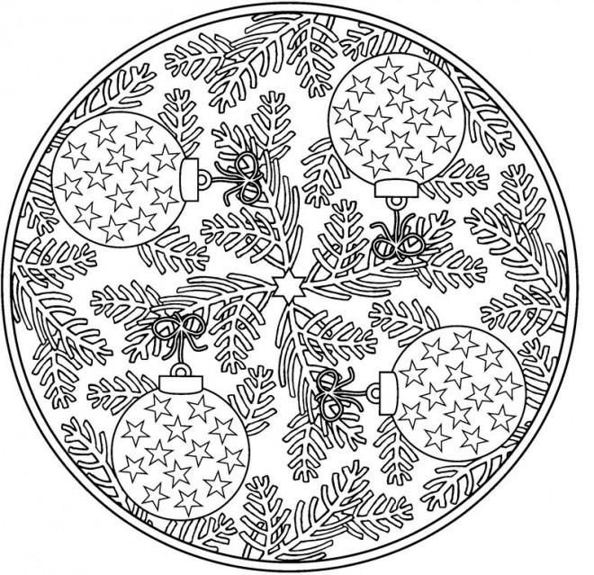 Coloriage et dessins gratuits Adulte Mandala Noel à imprimer