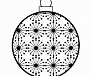 Coloriage Boule de Noel 11