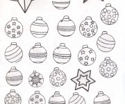 Coloriage Boule de Noel 12