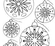 Coloriage et dessins gratuit Boule de Noel à colorier à imprimer