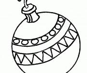 Coloriage et dessins gratuit Boule de Noel à décorer à imprimer