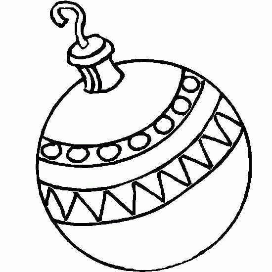 Coloriage Boule de Noel à décorer dessin gratuit à imprimer