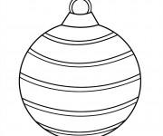 Coloriage et dessins gratuit Boule de Noel alignée à imprimer