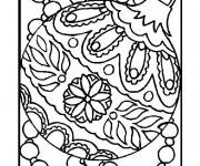 Coloriage et dessins gratuit Boule de Noel artistique à imprimer