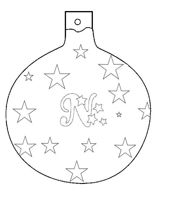 Coloriage Boule de Noel avec une décoration facile