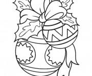 Coloriage et dessins gratuit Boule de Noel bien décorée à imprimer