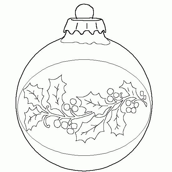 Coloriage et dessins gratuits Boule de Noel décoré facilement à imprimer